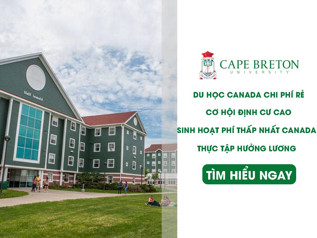 CAPE BRETON UNIVERSITY – Trường Đại học công lập chất lượng cao tại Canada