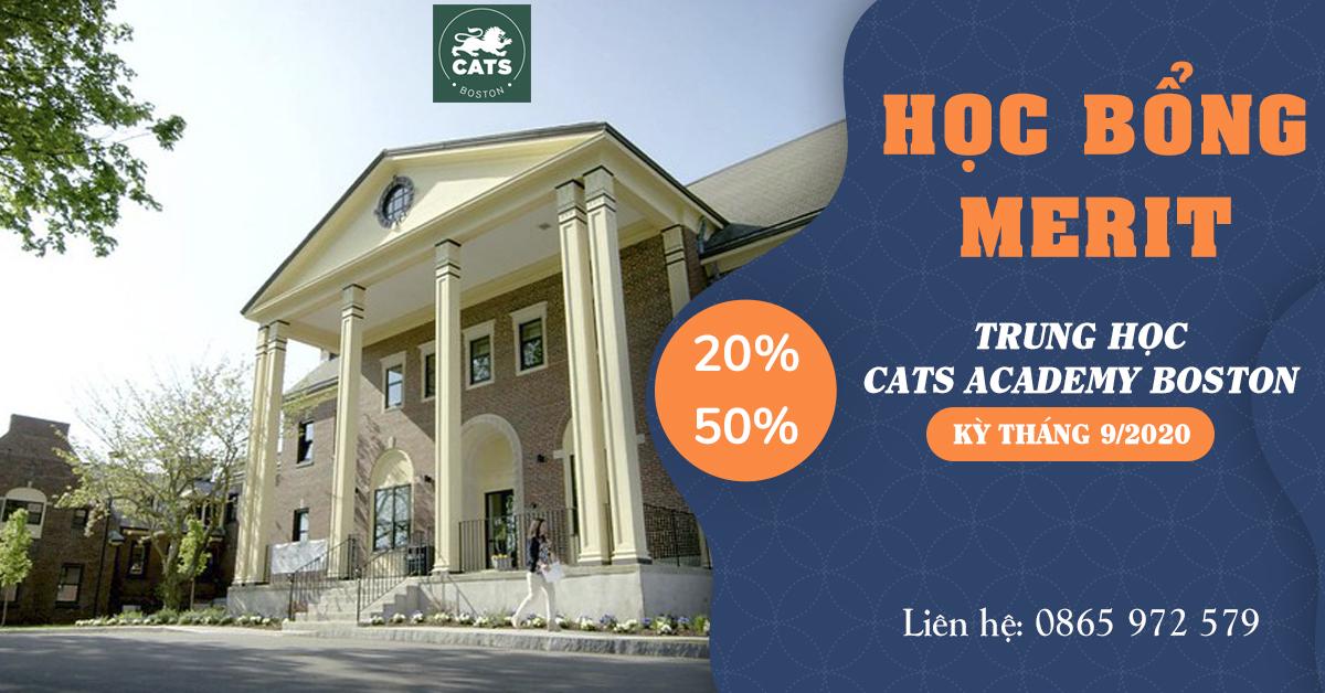 HỌC BỔNG MERIT LÊN ĐẾN 50% TẠI CATS BOSTON