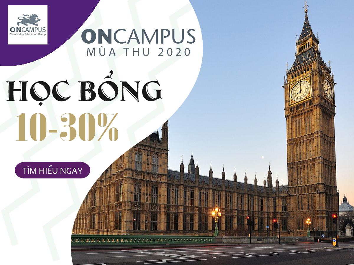 CẬP NHẬT HỌC BỔNG MÙA THU 2020 - ONCAMPUS TẬP ĐOÀN CEG